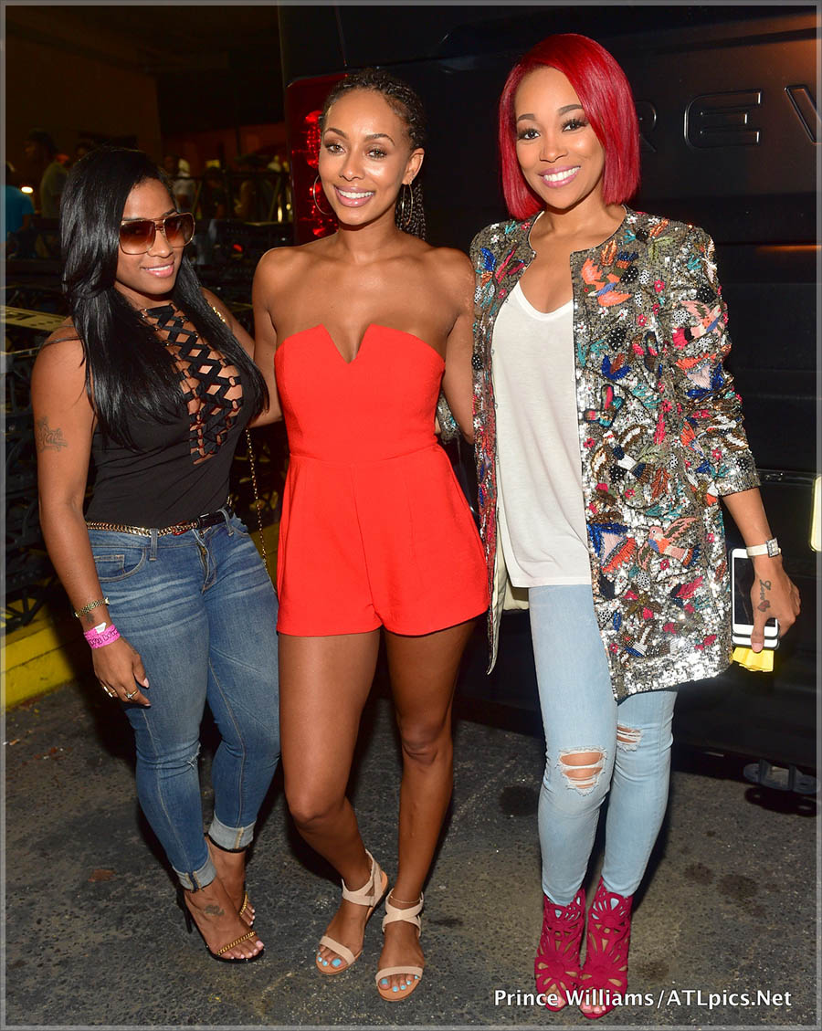 Toya Wright, Keri Hilson and Monica Brown