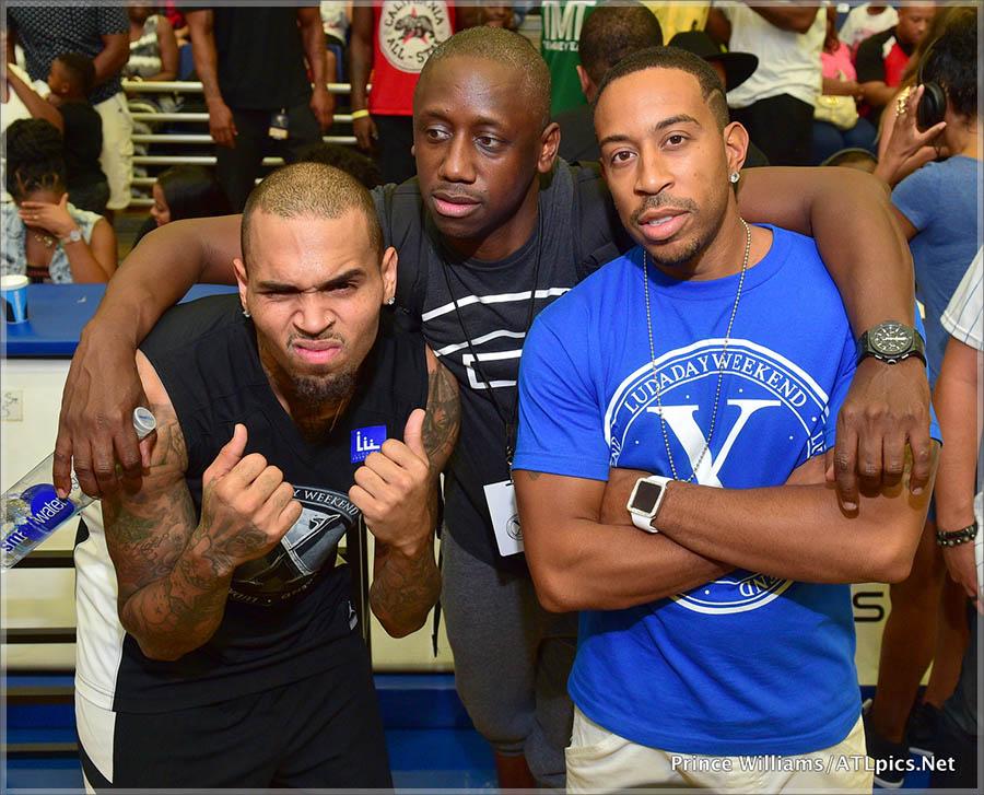 Chris Brown Chaka Zulu and Luda