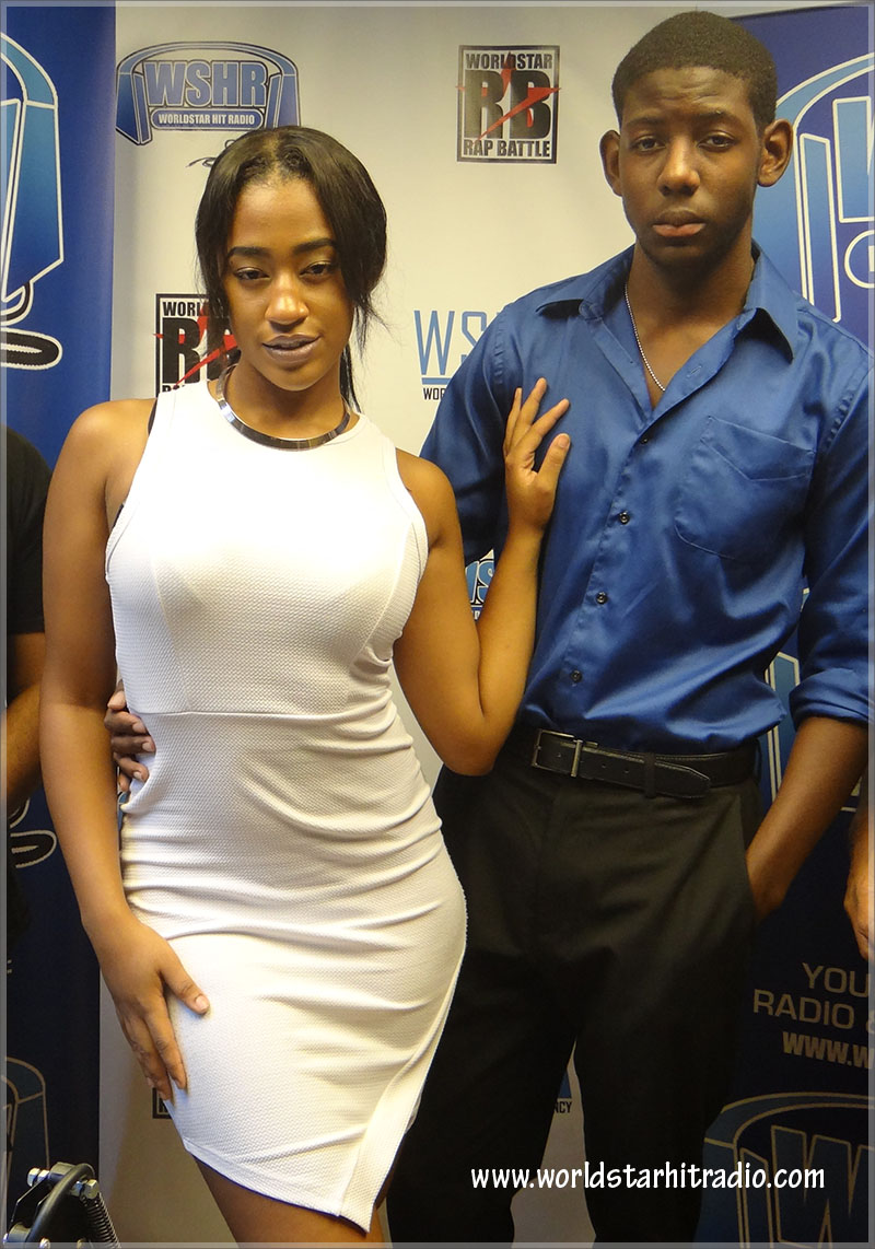 Pocahontas and Cameron at Worldstar Hit Radio