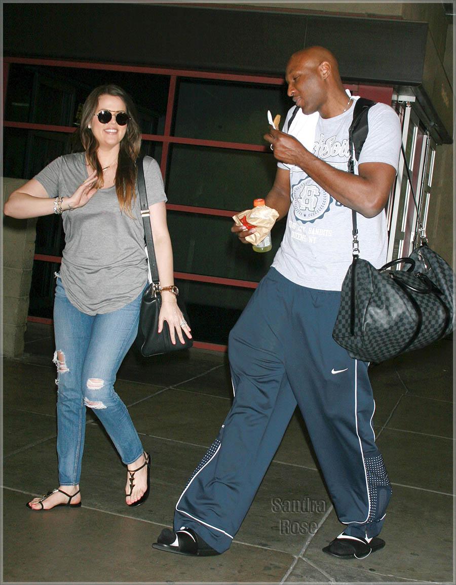 Khloe Kardashian Odom and husband Lamar Odom