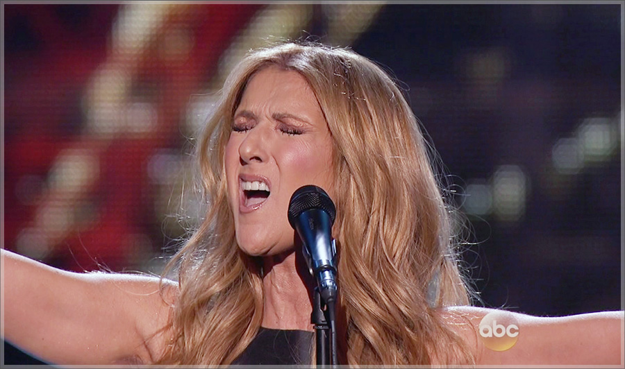 Celine Dion performed at the American Music Awards on ABC