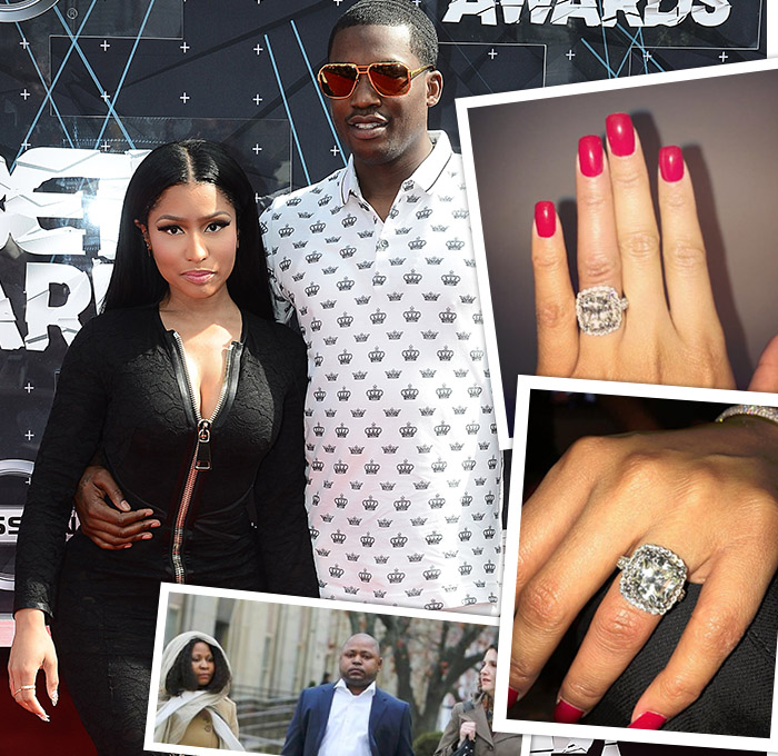 Nicki Mina and Meek Mill engagement