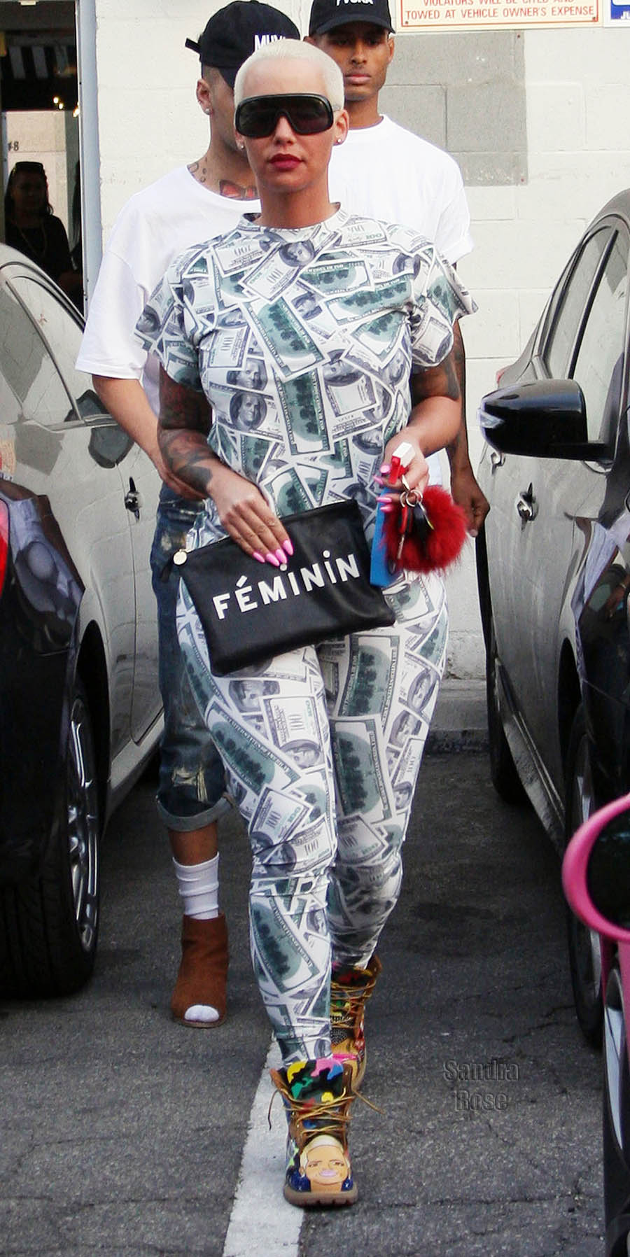 Amber Rose leaves a nail salon in Beverly Hills