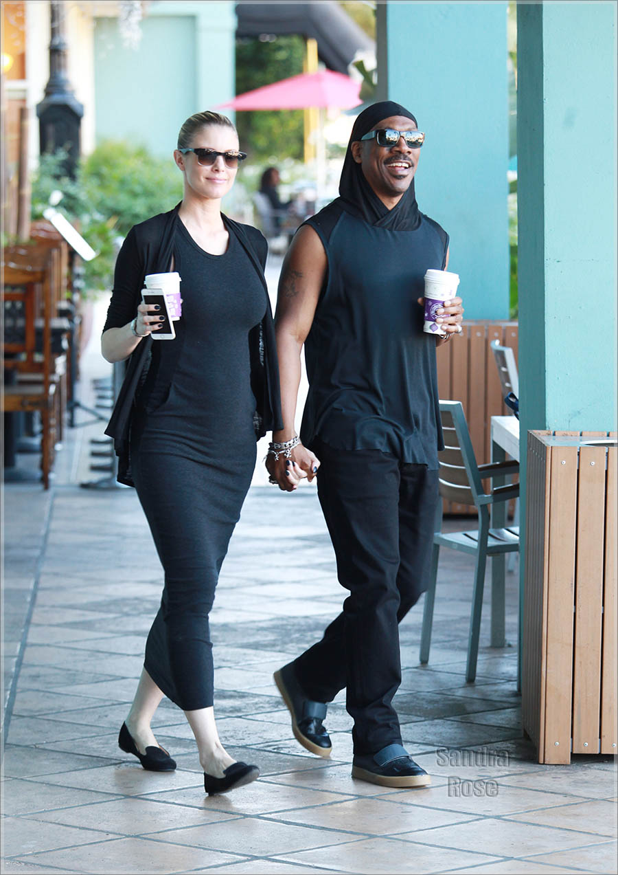 Eddie Murphy walks hand in hand with pregnant girlfriend Paige Butcher