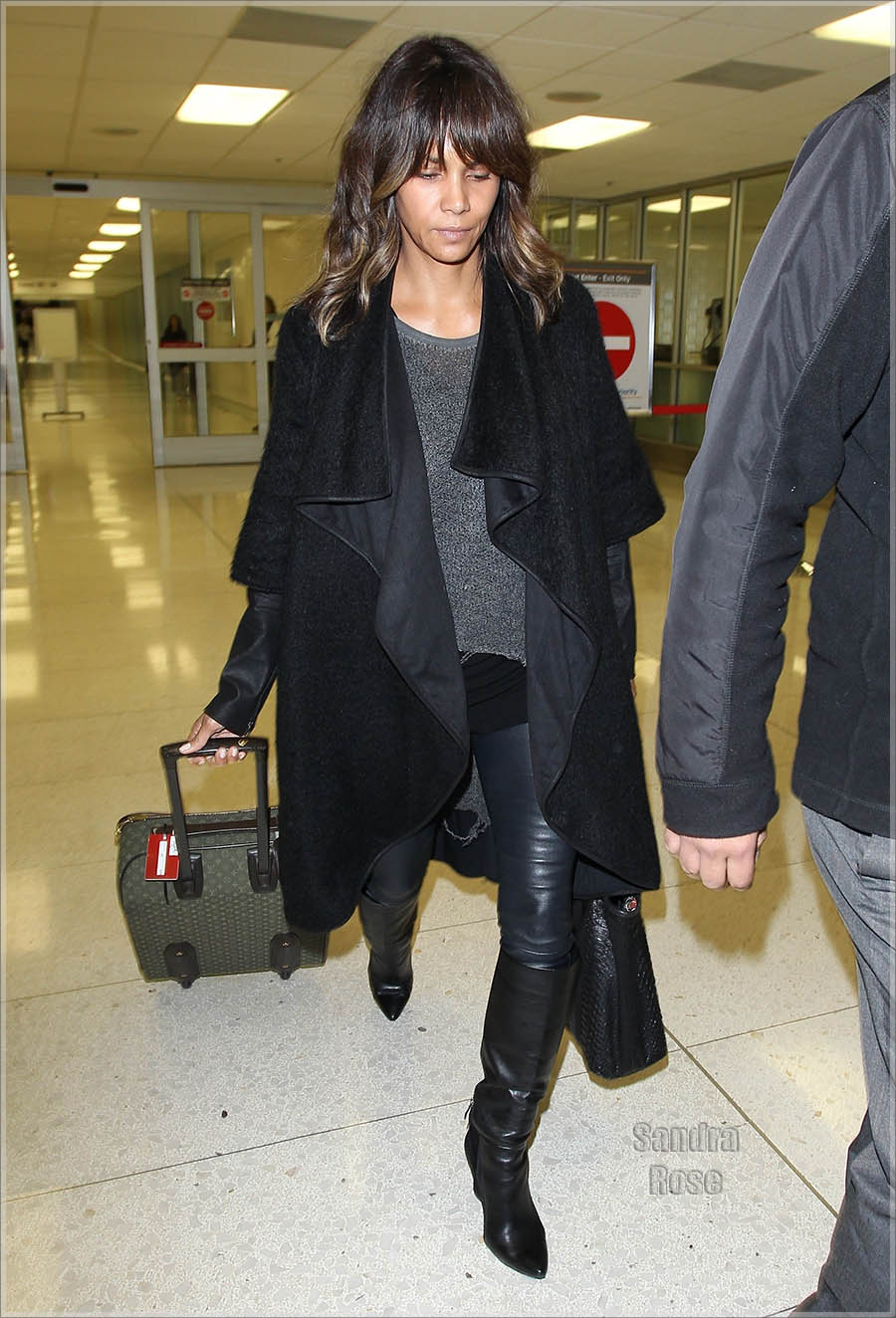 Halle Berry arrives at Los Angeles International (LAX) Airport