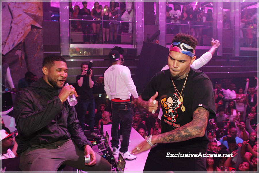 Chris Brown Hosts Liv Sundays