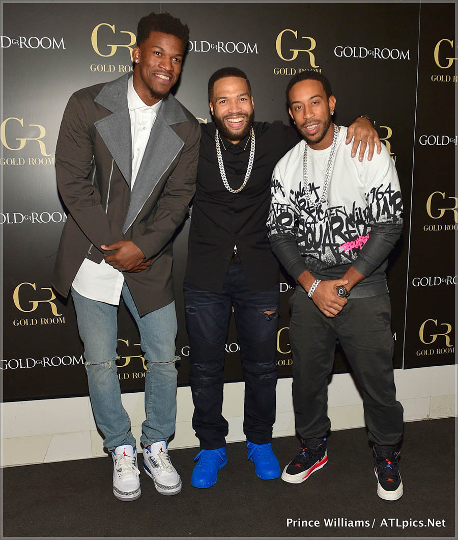 Ludacris and Jimmy Butler at Gold Room