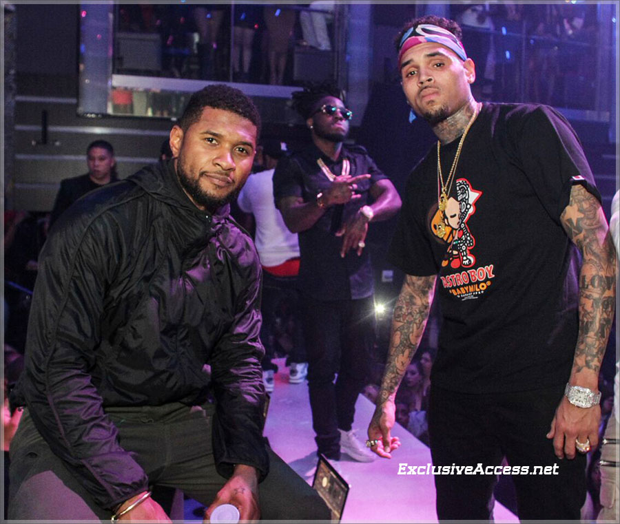 Usher and Chris Brown