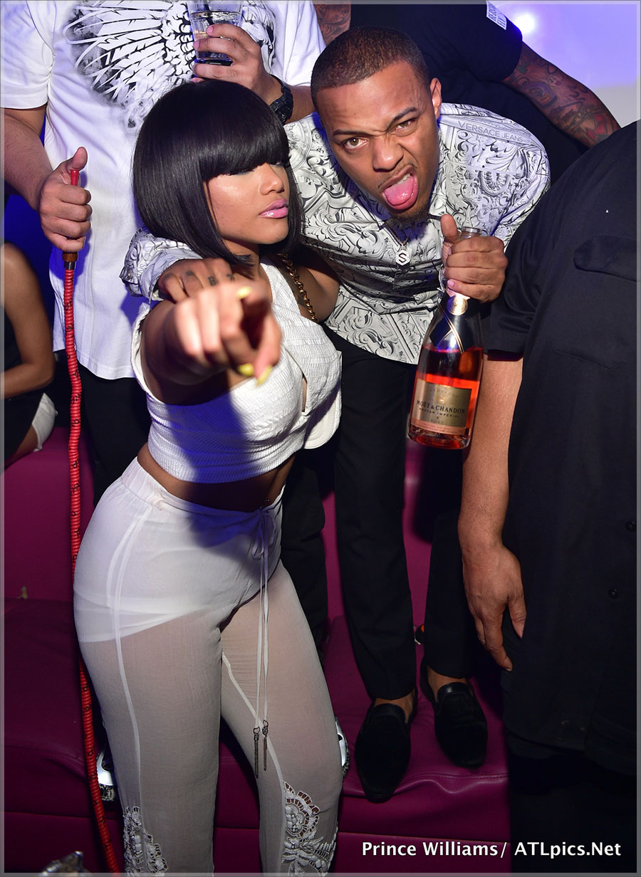 Shad Moss birthday celebration at Gold Room