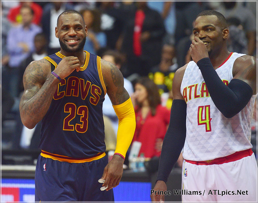 Lebron James and Paul Milsap