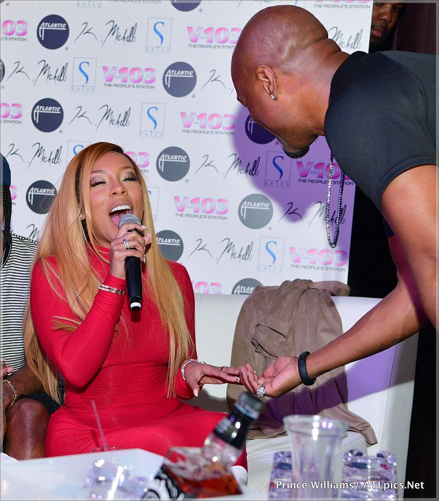 K Michelle Hosts Suite Lounge in Atlanta