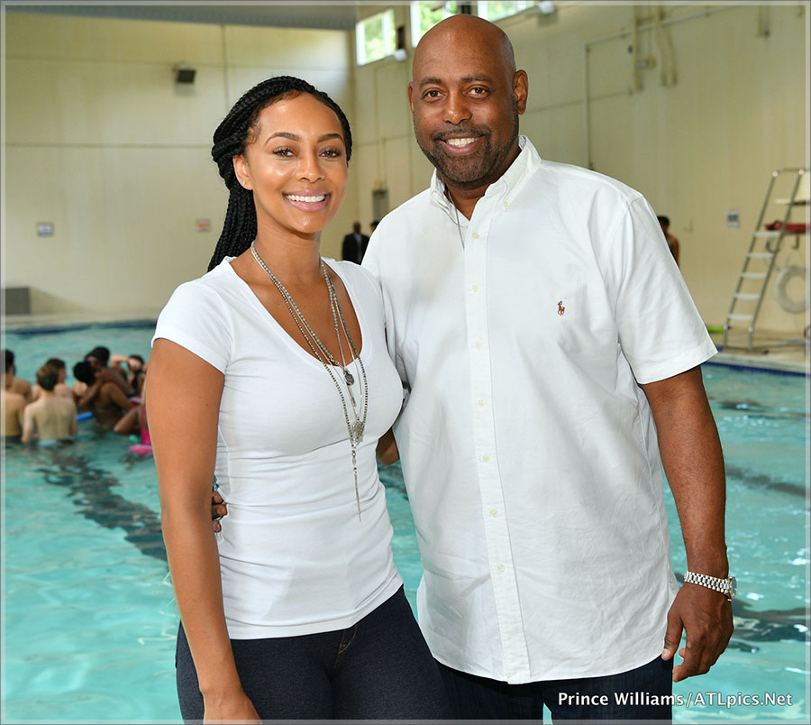 Keri Hilson and publicist Barry Florence