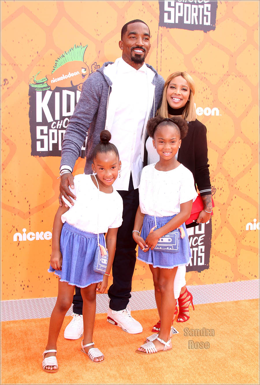 JR Smith Family At Kids Choice Sports