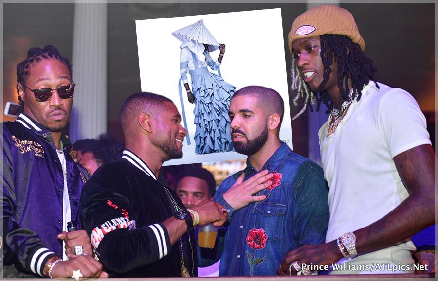 Usher, Drake, Future, Young Thug at Mansion Elan