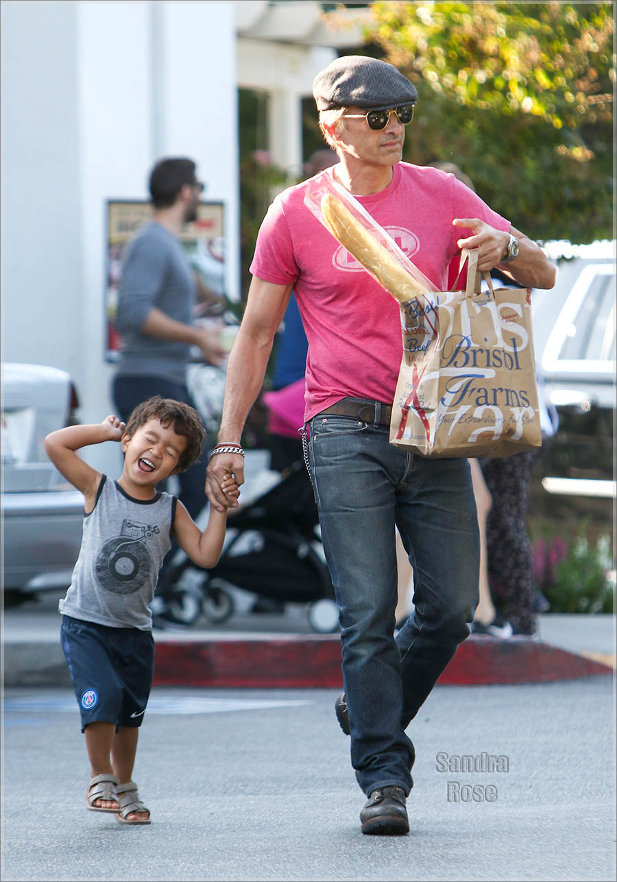Olivier Martinez and son Maceo Martinez