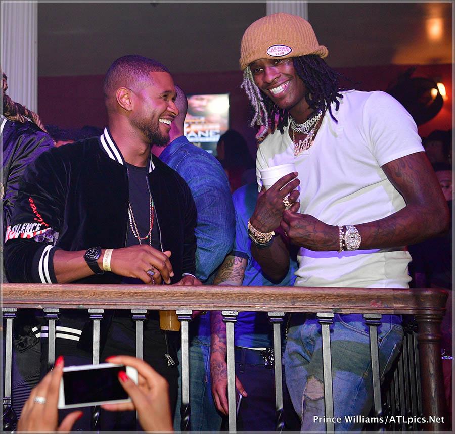 Usher, Young Thug at Mansion Elan