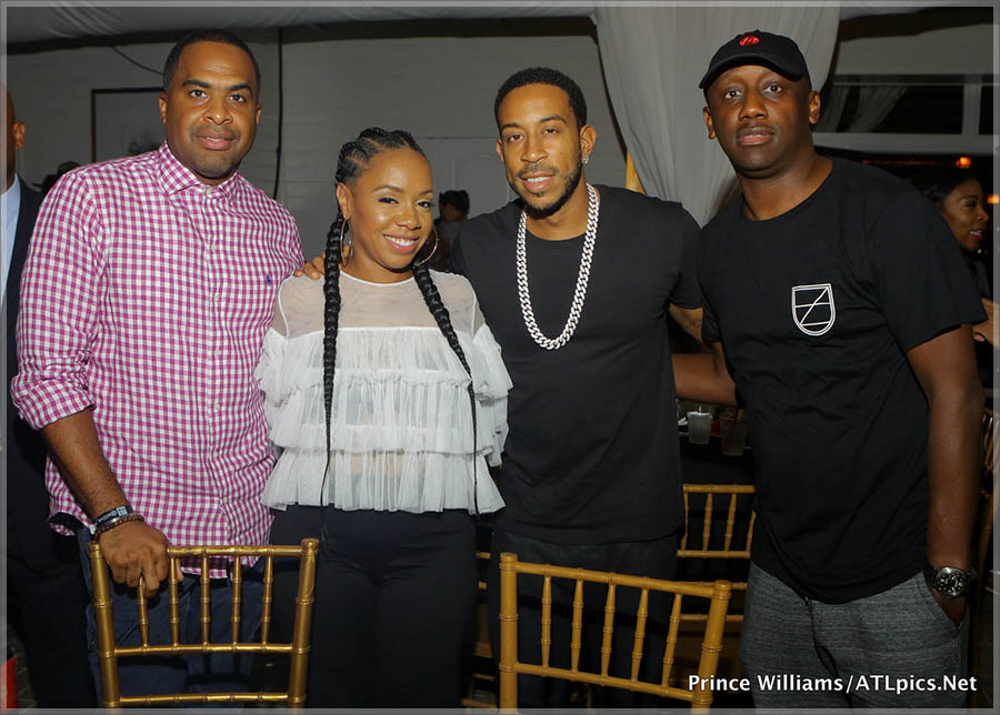 Ludacris, Eva Marcille Pigford, Silkk the Shocker at ATL Live on the