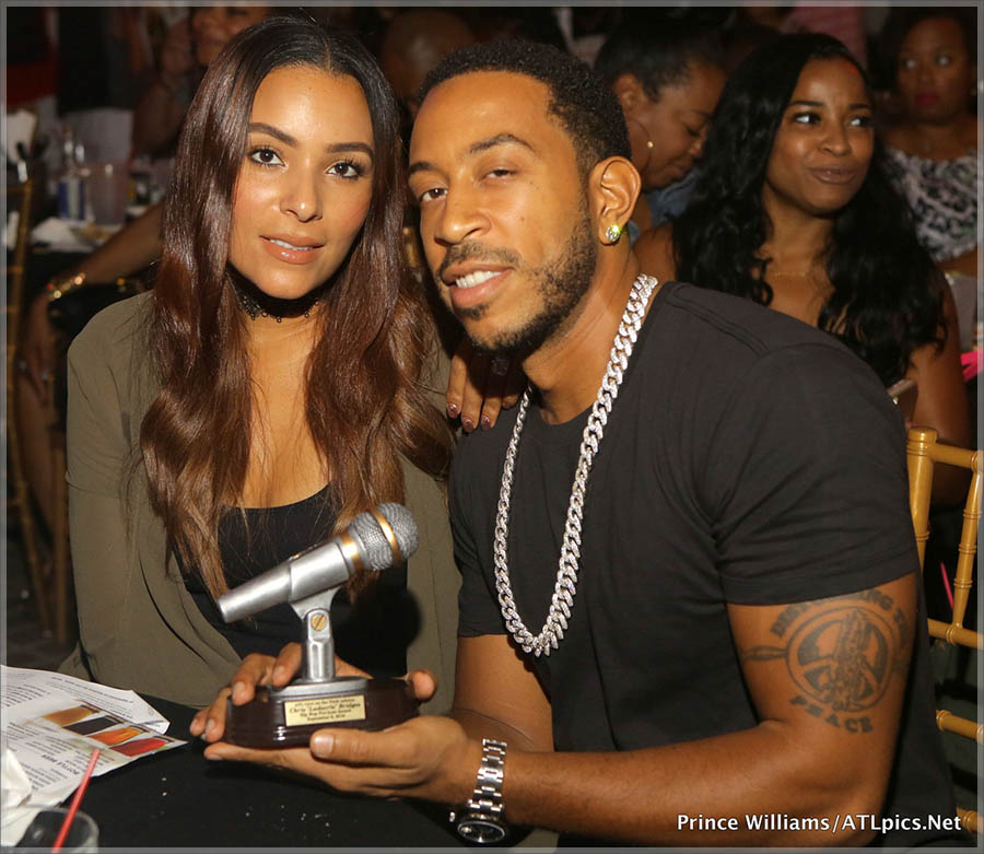 Eudoxie and Ludacris at ATL Live On the Park's 4th annual Hip Hop Pro Awards