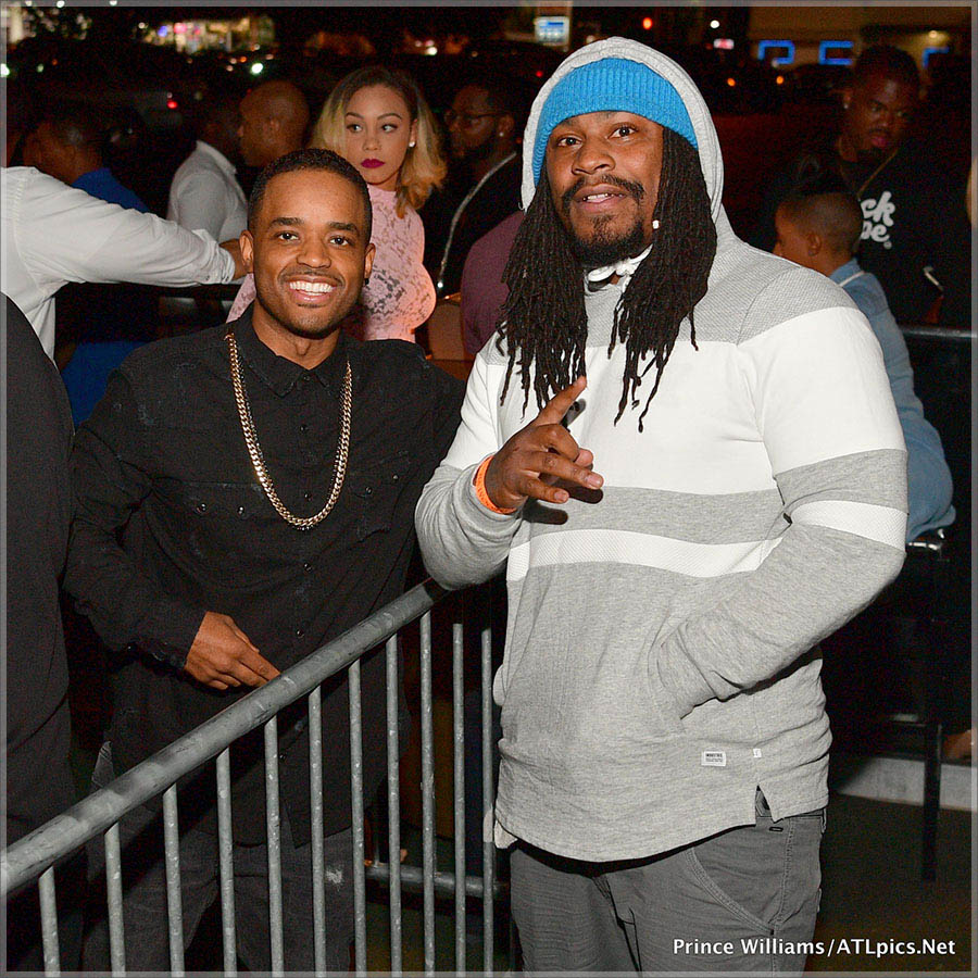Larenz Tate and Marshawn Lynch at Gold Room