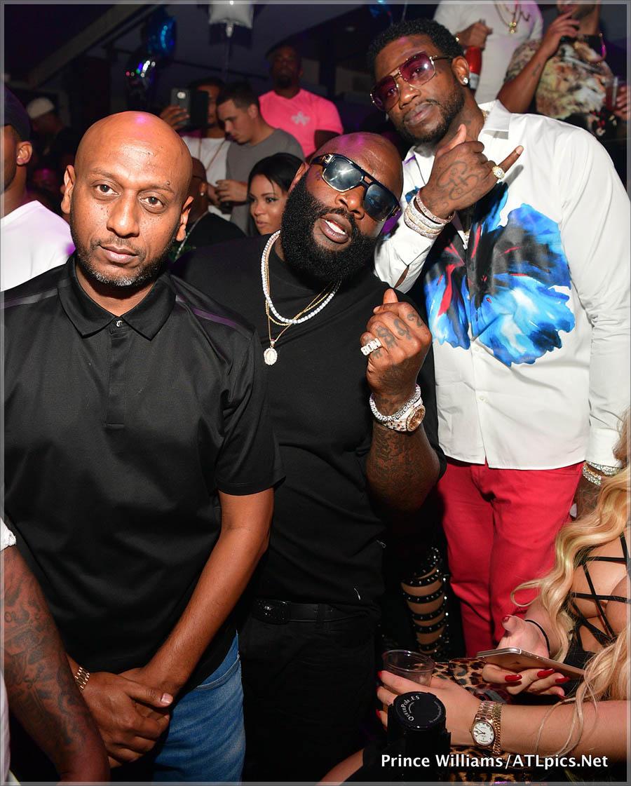 Alex Gidewon, Gucci Mane and Rick Ross at Club Iguana