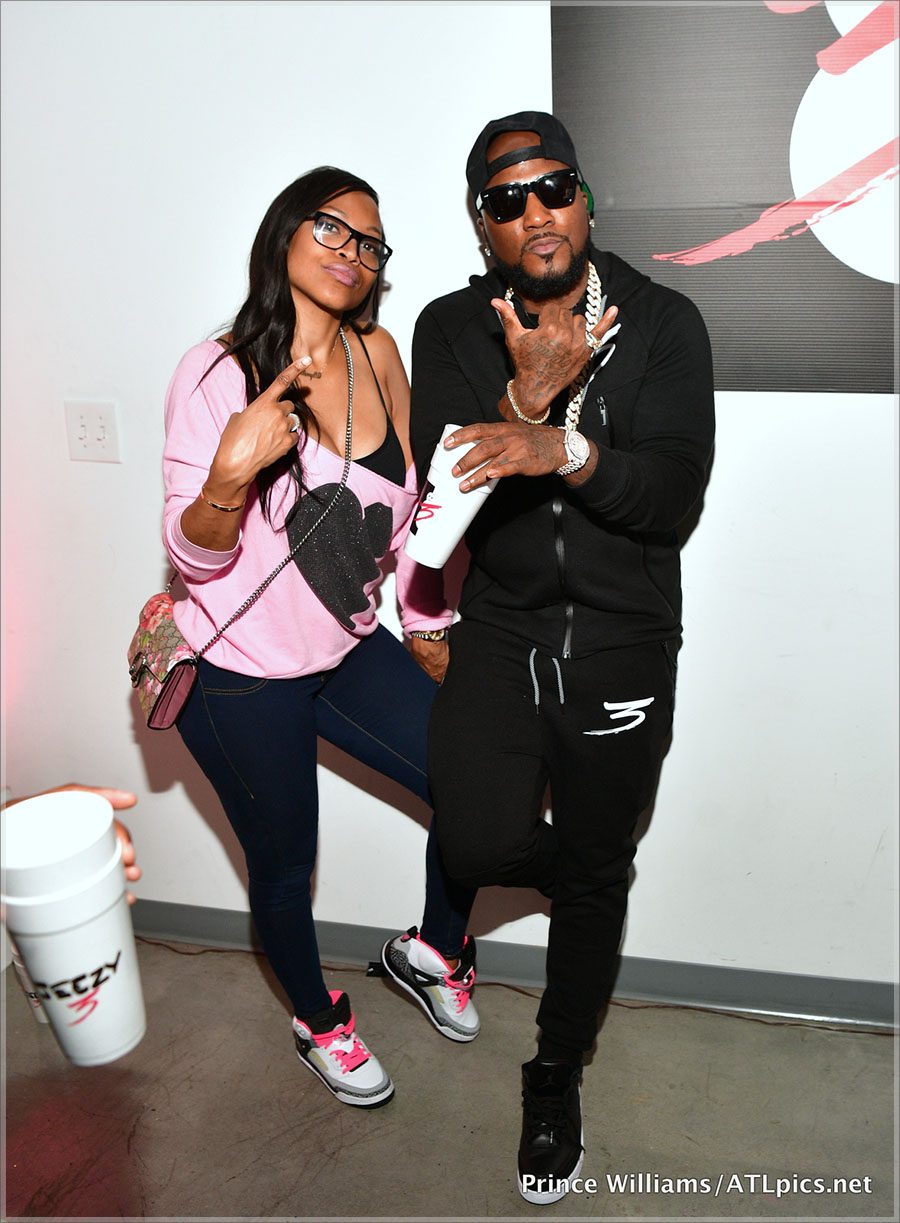 Jeezy and Monyetta Shaw