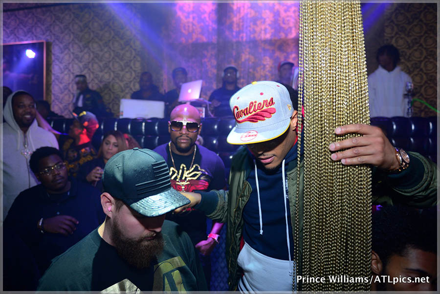 T.I., Floyd Mayweather at Medusa Lounge