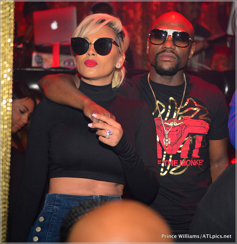 Floyd Mayweather at Medusa Lounge