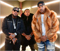 Jeezy, DJ Infamous, Ludacris on set