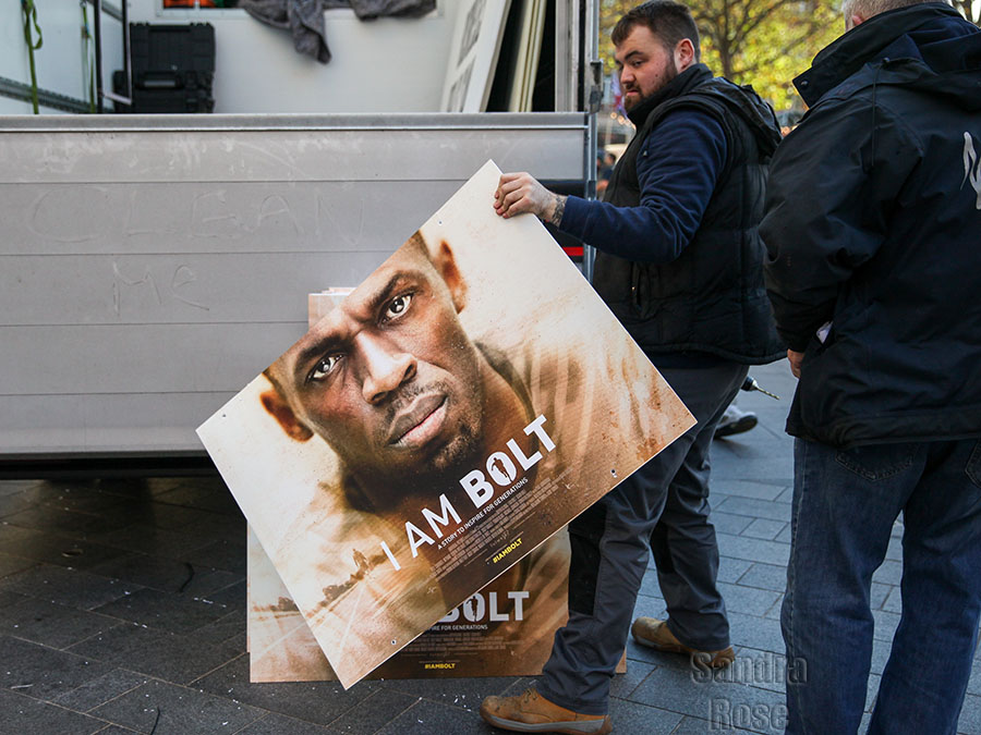Fan at I Am Bolt World Premiere