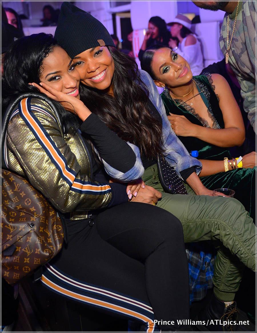 Toya Wright, Gabrielle Union at SL Lounge in Atlanta