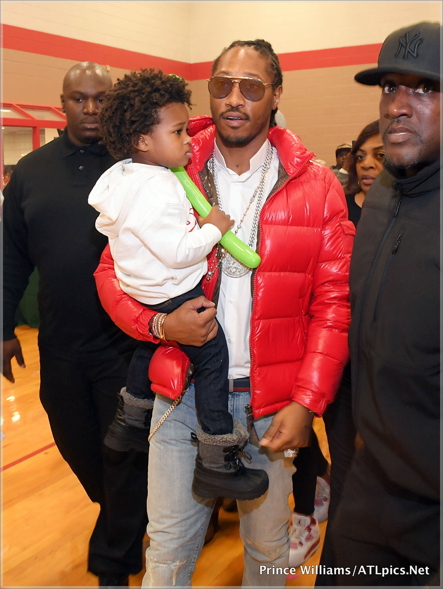 Zahir Wilburn and his dad Future Hendrix
