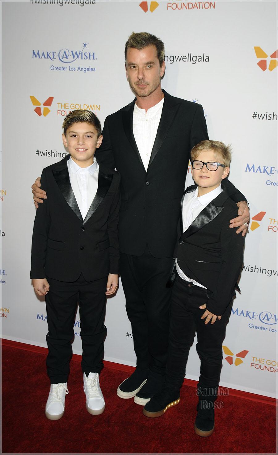Gavin Rossdale & sons in LA