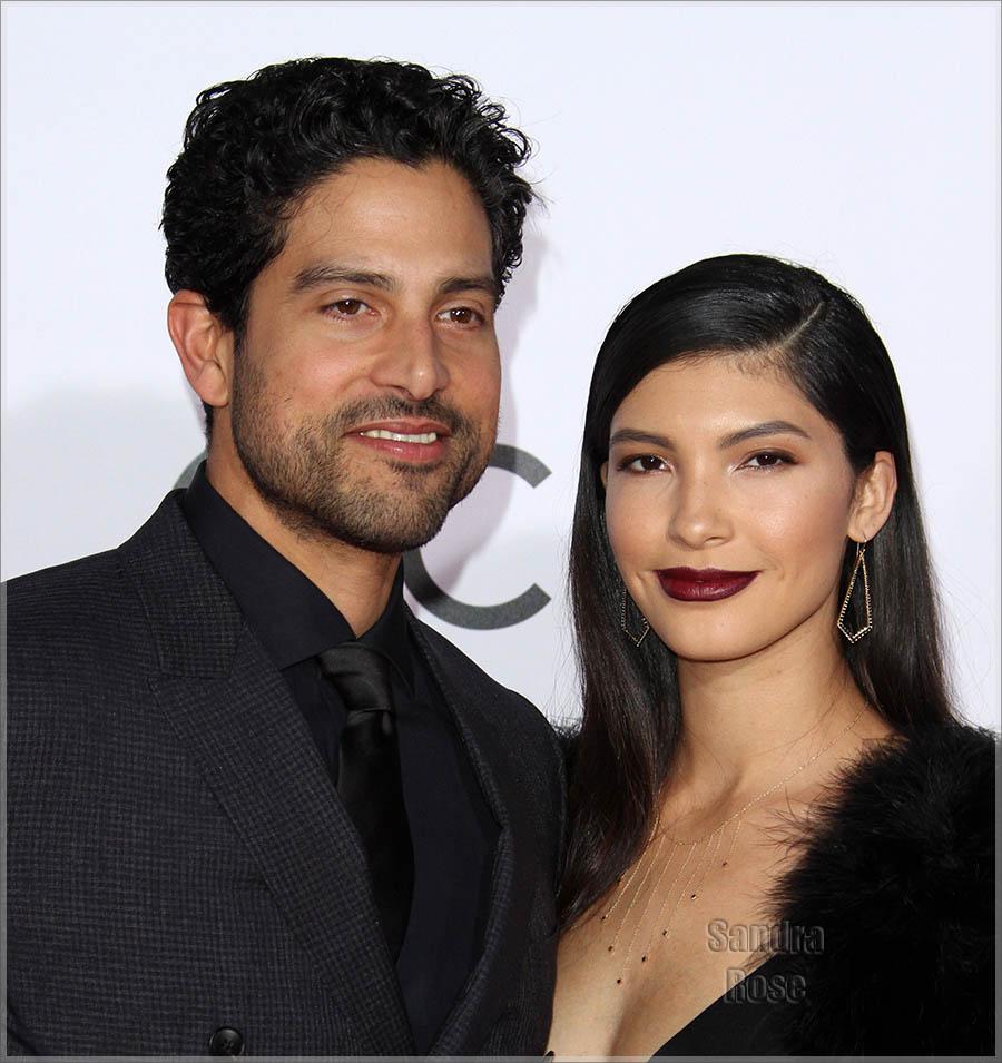 Adam Rodriguez and wife Grace Gail