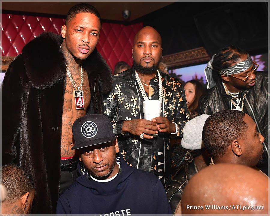 Rappers YG, Jeezy, 2 Chainz