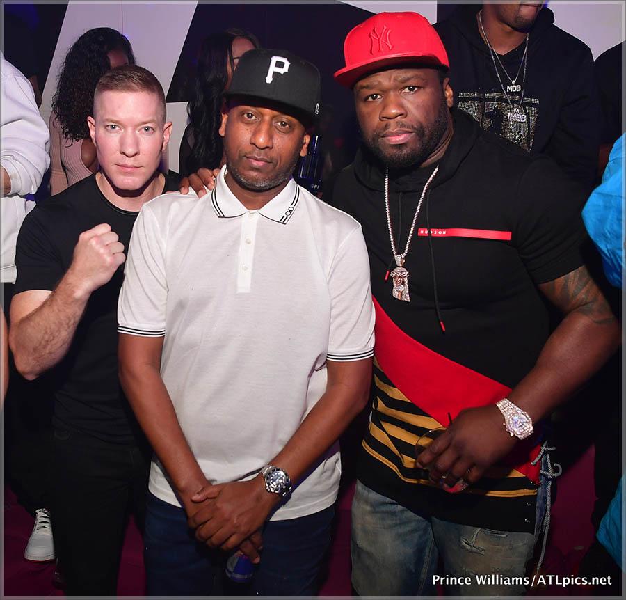 50 Cent, Alex Gidewon, Joseph Sikora at Gold Room