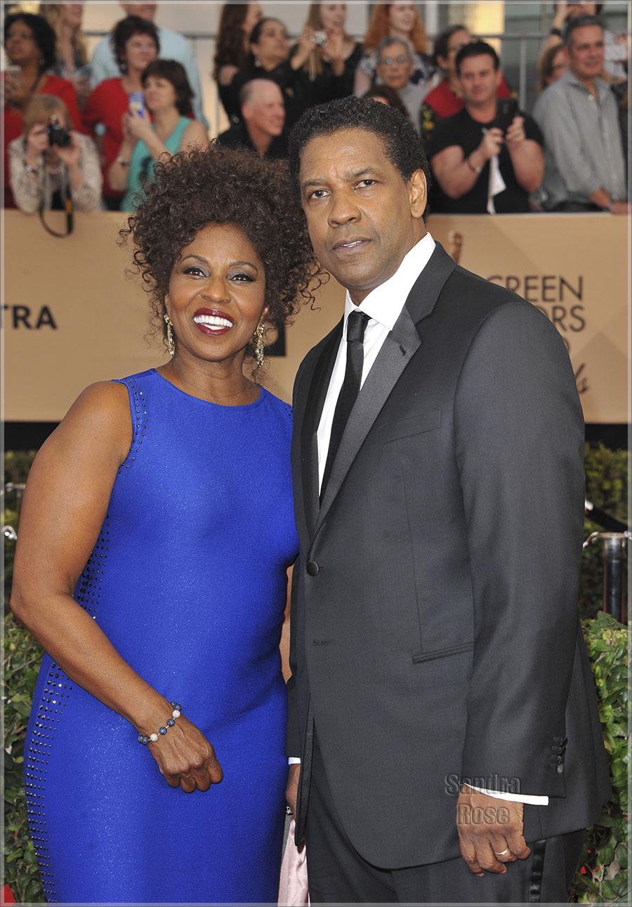 Denzel Washington And Wife Pauletta Washington Sandra Rose