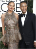 Chrissie Teigen and John Legend at Golden Globes