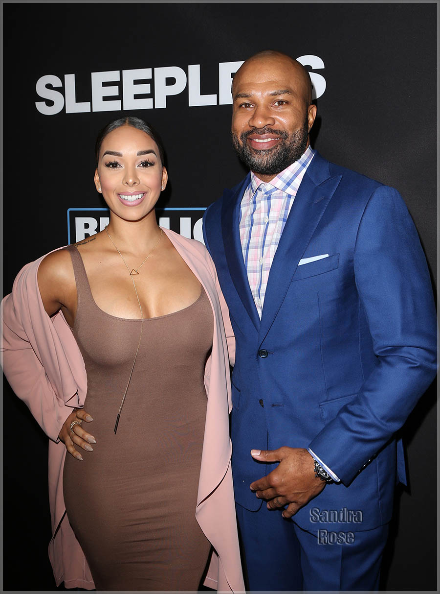 Gloria Govan, Derek Fisher at LA Premiere of SLEEPLESS | Sandra Rose