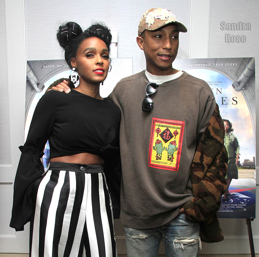 JJanelle Monae, Pharell in Beverly Hills