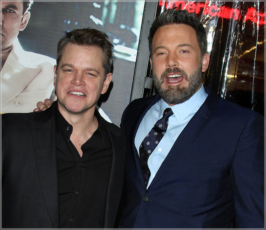 Matt Damon & Ben Affleck at Live By Night L.A. Premiere