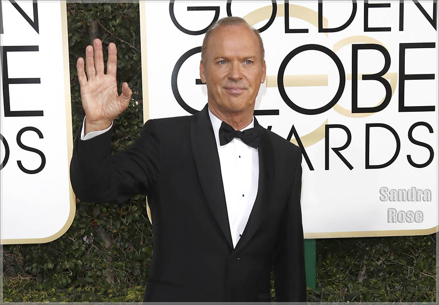 Michael Keaton at Golden Globe Awards