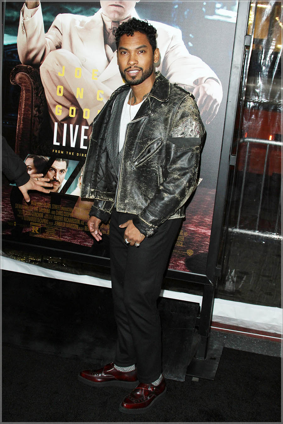 Miguel at Live By Night L.A. Premiere