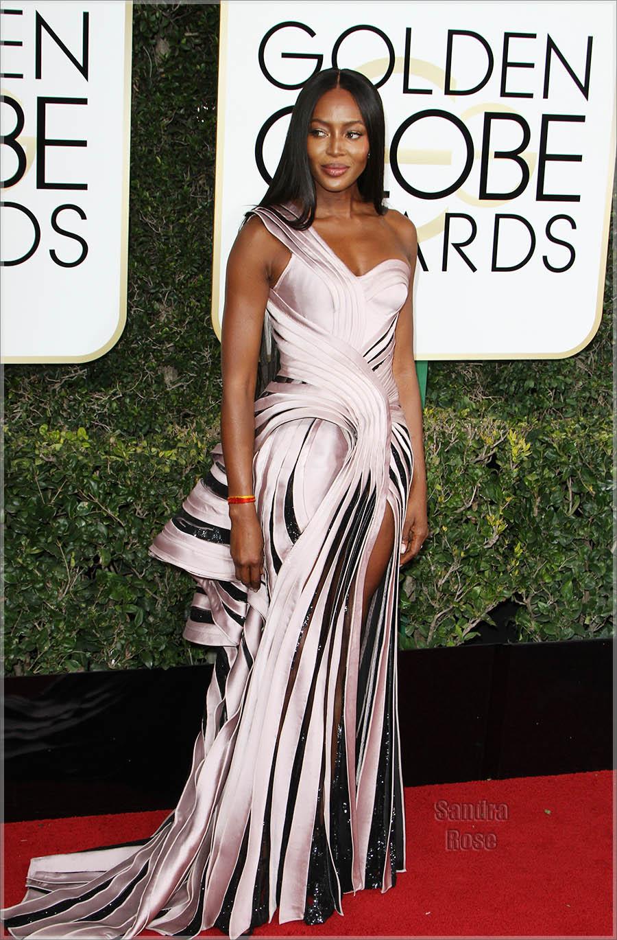 Naomi Campbell at Golden Globe Awards