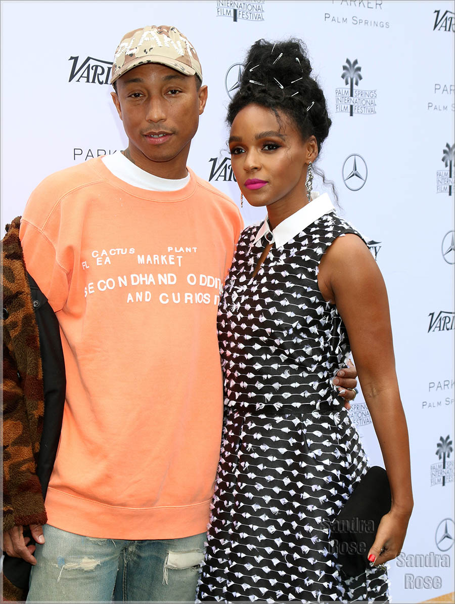 Pharrell and Janelle in Palm Springs
