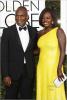 Julius Tennon and Viola Davis at Golden Globes