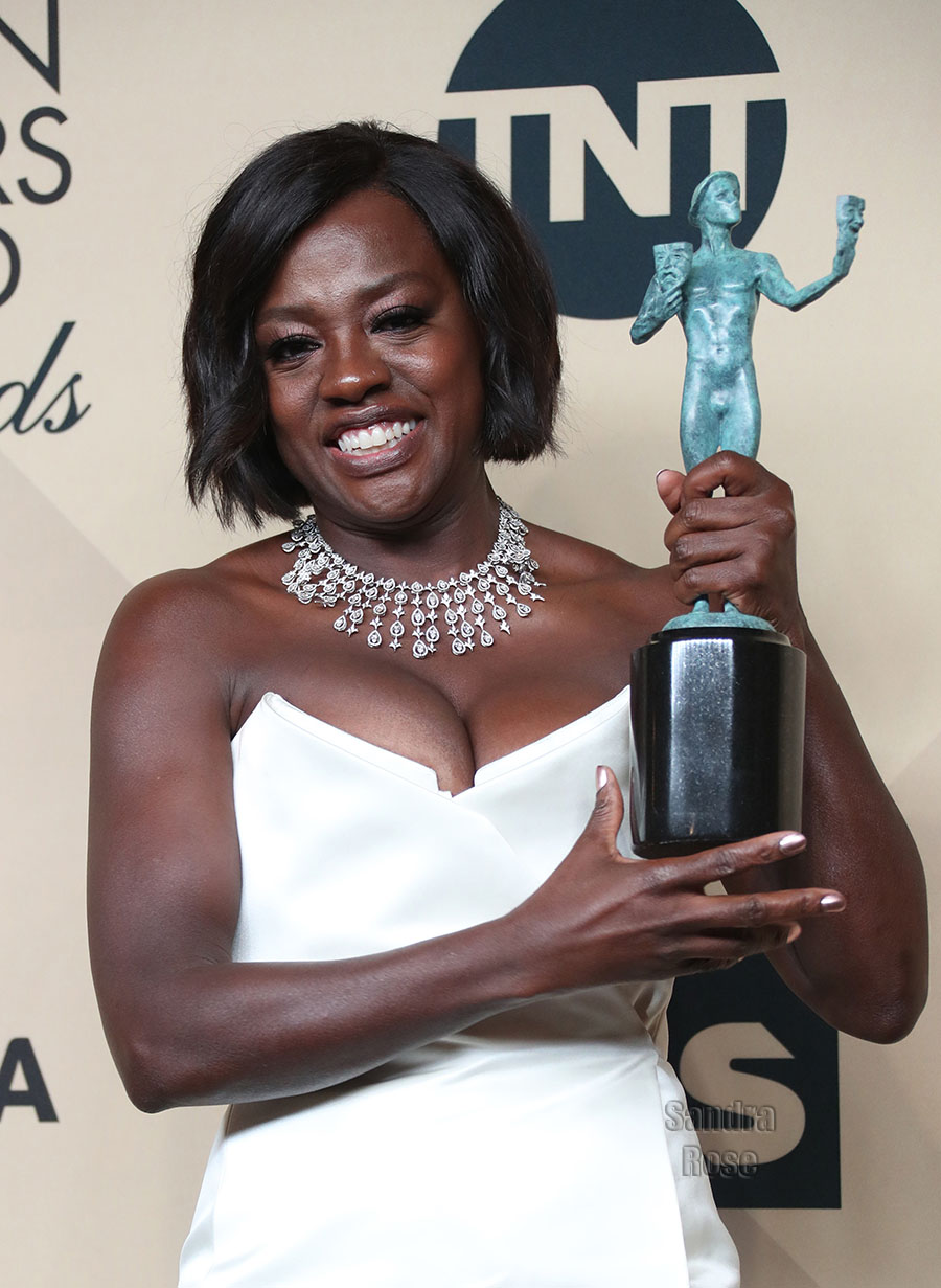 Viola Davis at 2017 SAG Awards