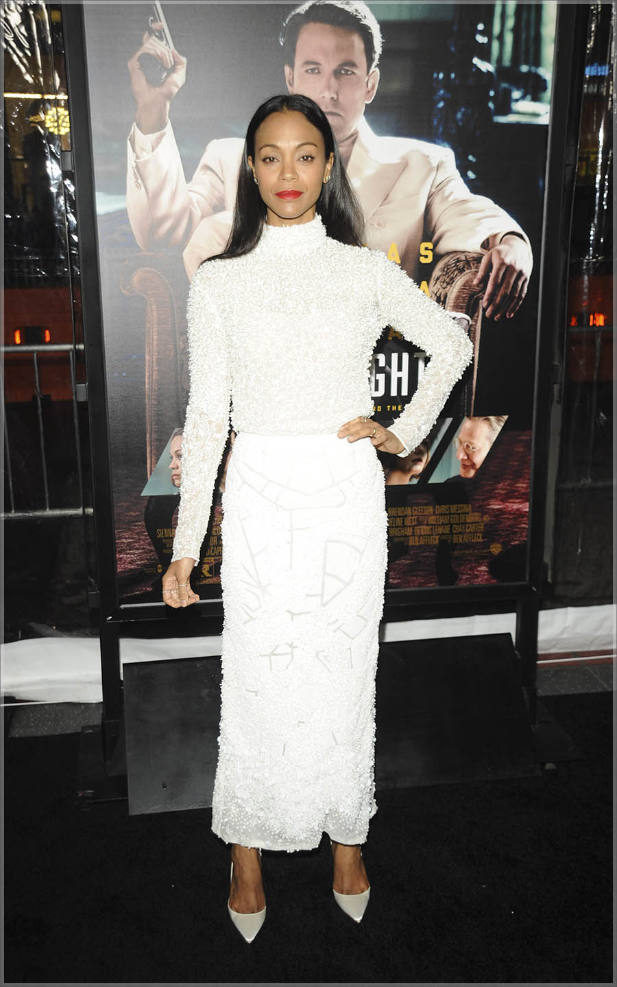 Zoe Saldana at Live By Night L.A. Premiere