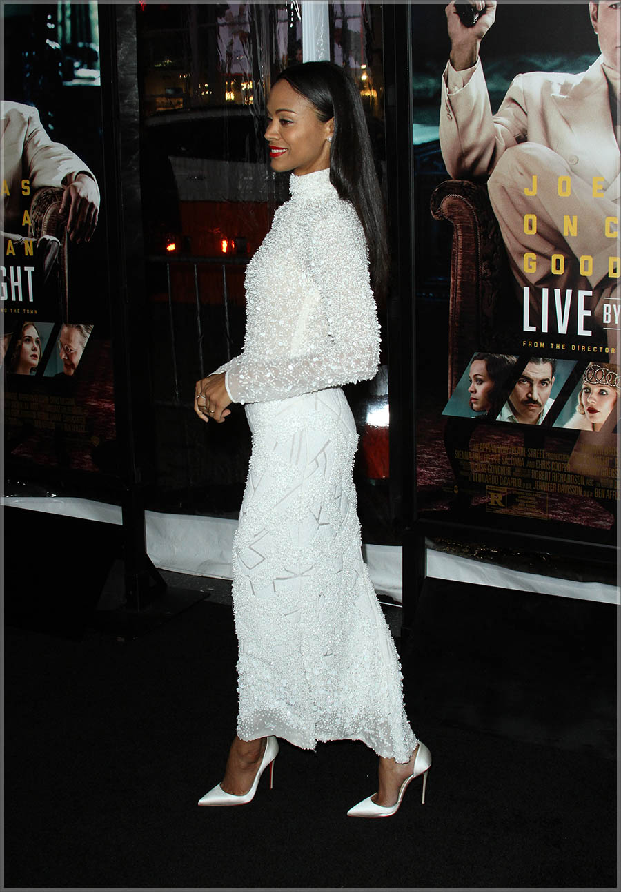Zoe Saldana at Live By Night L.A. Premiere