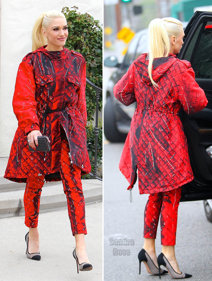Gwen Stefani wearing Moschino