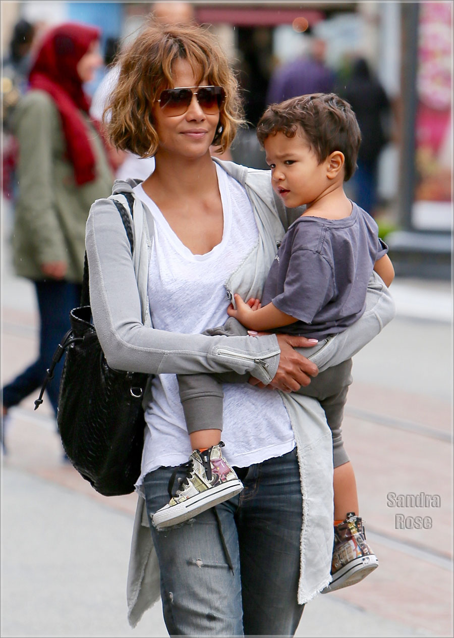 Halle Berry and son Maceo